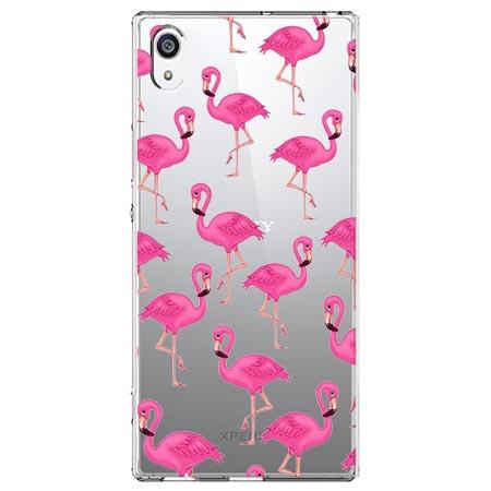 Etui na Sony Xperia XA1 - Różowe flamingi.