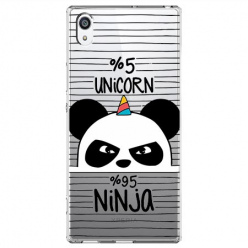 Etui na Sony Xperia XA1 - Ninja Unicorn - Jednorożec.