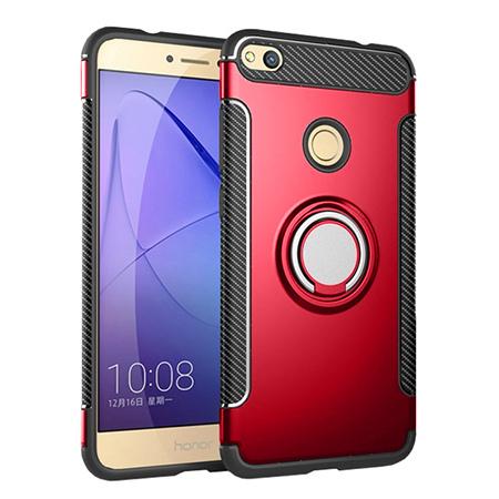 Etui na Huawei P9 Lite 2017 - Pancerne Magnet Ring - Czerwony.