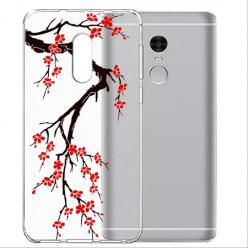 Etui na telefon Xiaomi Note 4X - Krzew kwitnącej wiśni.