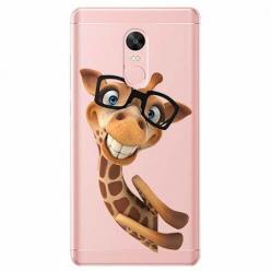 Etui na telefon Xiaomi Note 4X - Wesoła żyrafa w okularach.
