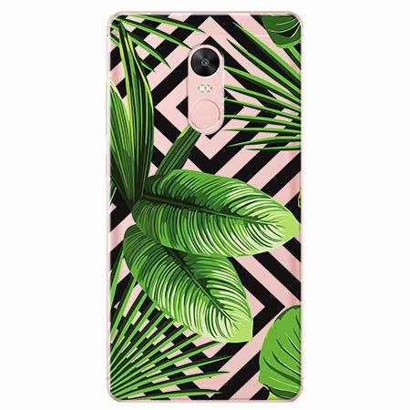 Etui na telefon Xiaomi Note 4X - Egzotyczne liście bananowca.