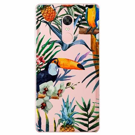 Etui na telefon Xiaomi Note 4X - Egzotyczne tukany.