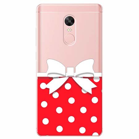 Etui na telefon Xiaomi Note 4X - Gustowna kokardka.