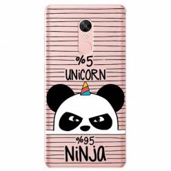 Etui na telefon Xiaomi Note 4X - Ninja Unicorn - Jednorożec.