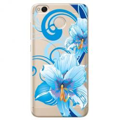 Etui na telefon Xiaomi Note 5A - Niebieski kwiat północy.