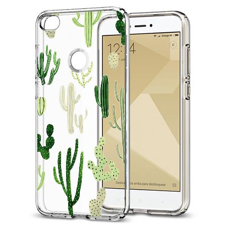 Etui na telefon Xiaomi Note 5A - Kaktusowy ogród.