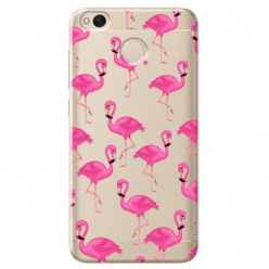 Etui na telefon Xiaomi Note 5A - Różowe flamingi.