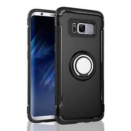 Etui na Samsung Galaxy S8 - Pancerne Magnet Ring - Czarny.