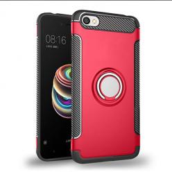 Etui na Xiaomi Redmi Note 5A - Pancerne Magnet Ring - Czerwony.