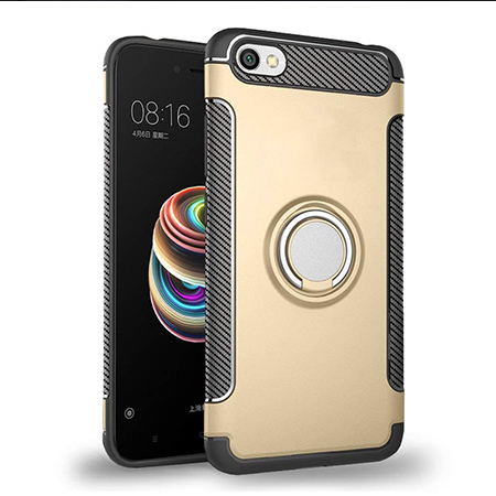 Etui na Xiaomi Redmi Note 5A - Pancerne Magnet Ring - Złoty.
