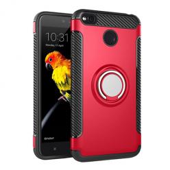 Etui na Xiaomi Redmi 4X - Pancerne Magnet Ring - Czerwony.