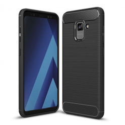 Etui na Samsung Galaxy A8 2018 - bumper Neo CARBON - Czarny.