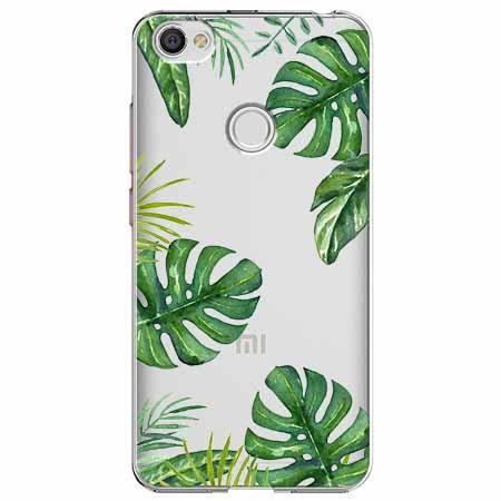 Etui na Xiaomi Note 5A Prime - Egzotyczne roślina monstera.