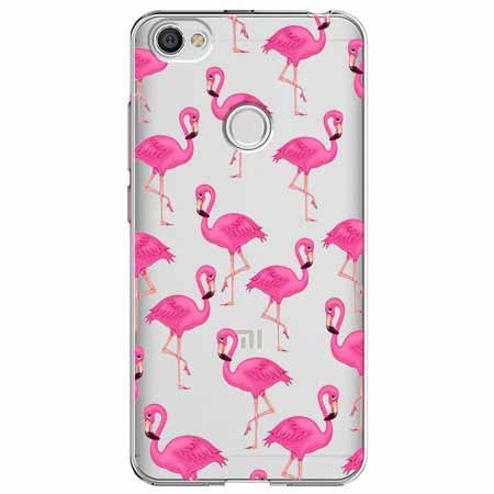 Etui na Xiaomi Note 5A Prime - Różowe flamingi.
