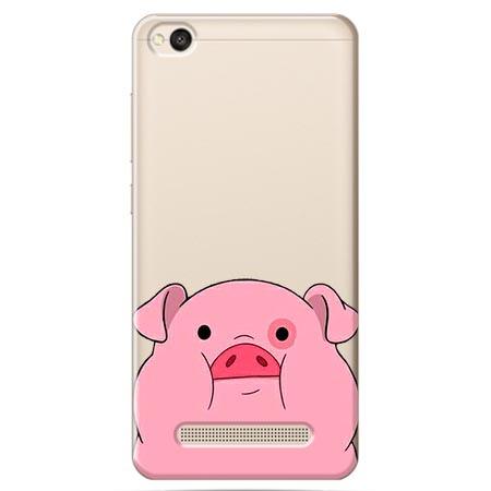 Etui na Xiaomi Redmi 5A - Słodka różowa świnka.