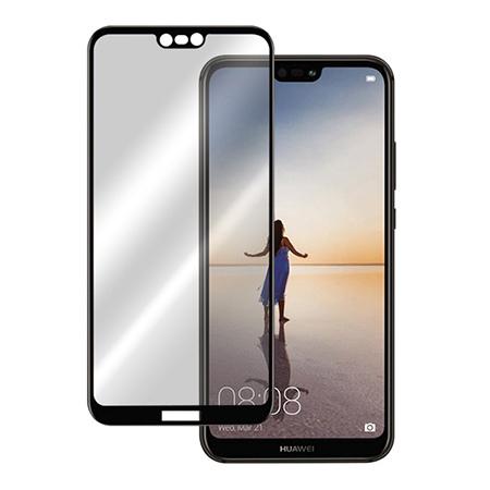 Huawei P20 Lite - hartowane szkło 5D na cały ekran - Czarny.