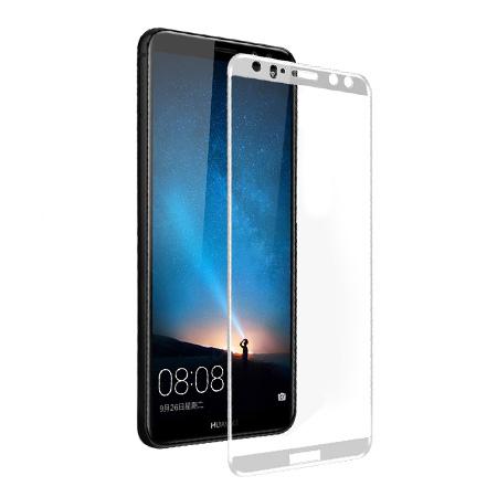 Huawei Mate 10 Lite - hartowane szkło 5D na cały ekran - Biały.