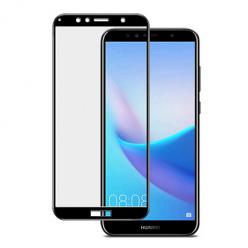 Huawei Y6 2018 hartowane szkło 5D Full Glue - Czarny.