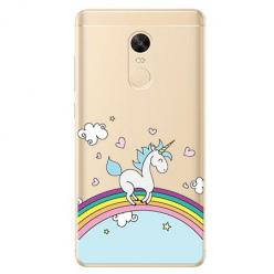 Etui na Xiaomi Redmi 5 Plus - Jednorożec na tęczy.