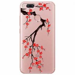 Etui na Xiaomi Mi 5x - Krzew kwitnącej wiśni.