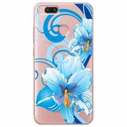 Etui na Xiaomi Mi 5x - Niebieski kwiat północy.