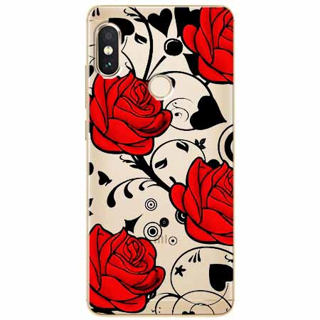 Etui na Xiaomi Note 5 Pro - Czerwone róże.