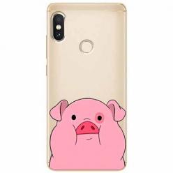 Etui na Xiaomi Note 5 Pro - Słodka różowa świnka.