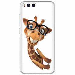 Etui na Xiaomi Mi 6 - Wesoła żyrafa w okularach.