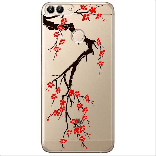 Etui na Huawei P Smart - Krzew kwitnącej wiśni.