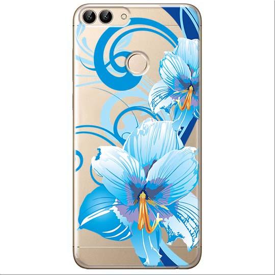 Etui na Huawei P Smart - Niebieski kwiat północy.