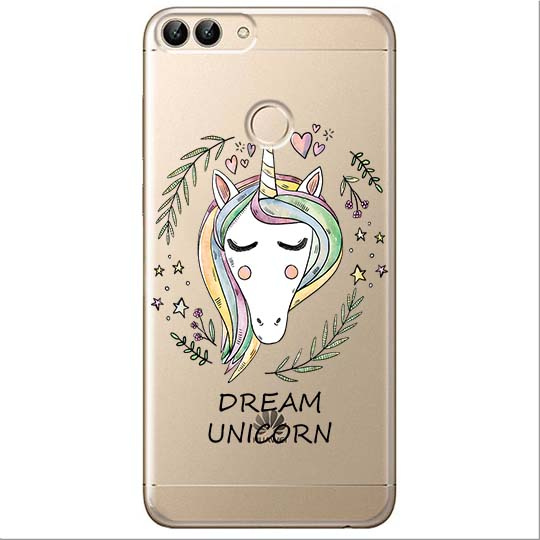 Etui na Huawei P Smart - Dream unicorn - Jednorożec.