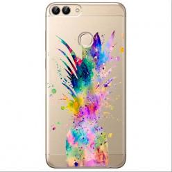 Etui na Huawei P Smart - Watercolor ananasowa eksplozja.