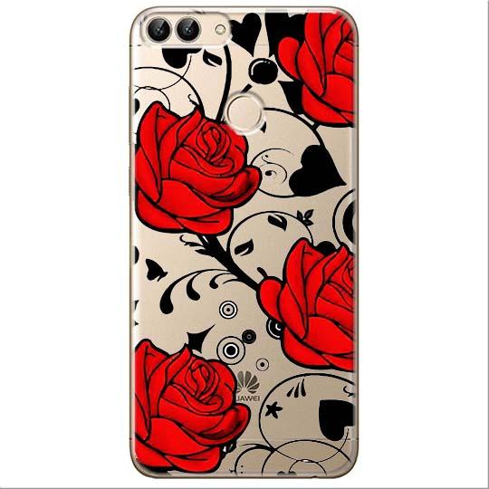 Etui na Huawei P Smart - Czerwone róże.
