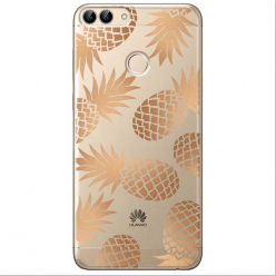 Etui na Huawei P Smart - Złote ananasy.