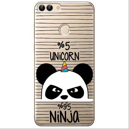 Etui na Huawei P Smart - Ninja Unicorn - Jednorożec.