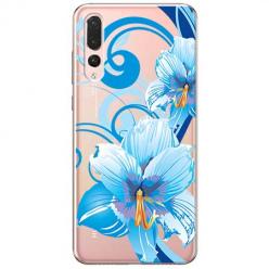 Etui na Huawei P20 Pro - Niebieski kwiat północy.