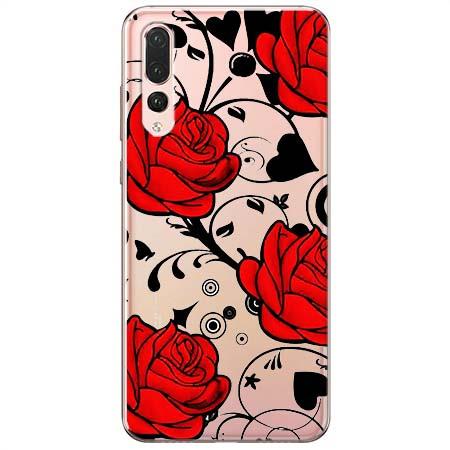 Etui na Huawei P20 Pro - Czerwone róże.