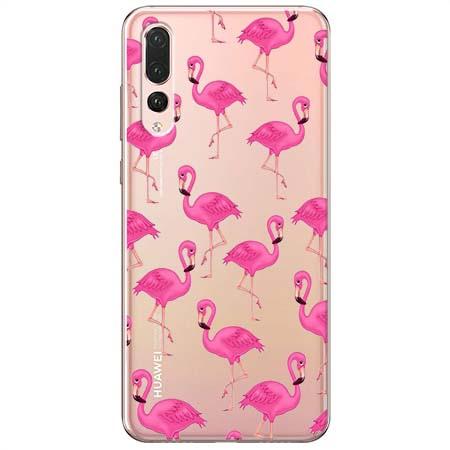 Etui na Huawei P20 Pro - Różowe flamingi.