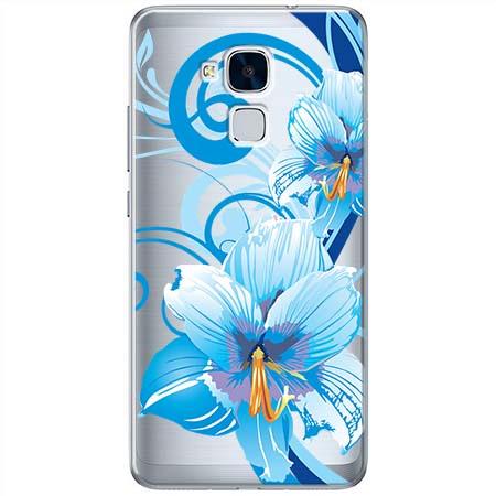 Etui na Huawei Honor 7 Lite - Niebieski kwiat północy.