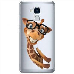Etui na Huawei Honor 7 Lite - Wesoła żyrafa w okularach.
