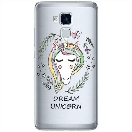 Etui na Huawei Honor 7 Lite - Dream unicorn - Jednorożec.