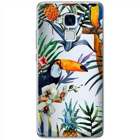 Etui na Huawei Honor 7 Lite - Egzotyczne tukany.