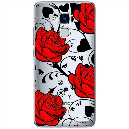 Etui na Huawei Honor 7 Lite - Czerwone róże.