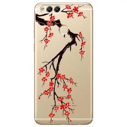 Etui na Huawei Honor 7X - Krzew kwitnącej wiśni.