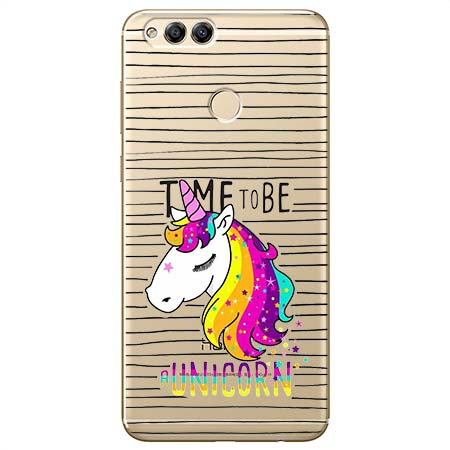 Etui na Huawei Honor 7X - Time to be unicorn - Jednorożec.