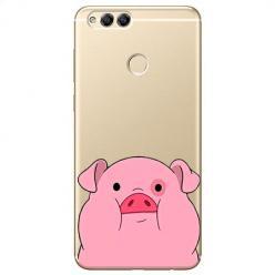 Etui na Huawei Honor 7X - Słodka różowa świnka.