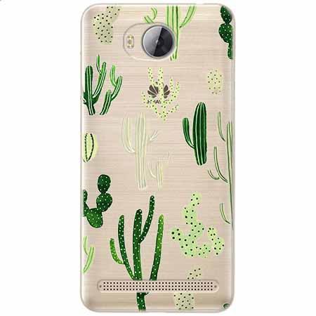 Etui na Huawei Y3 II - Kaktusowy ogród.