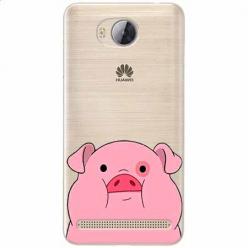 Etui na Huawei Y3 II - Słodka różowa świnka.