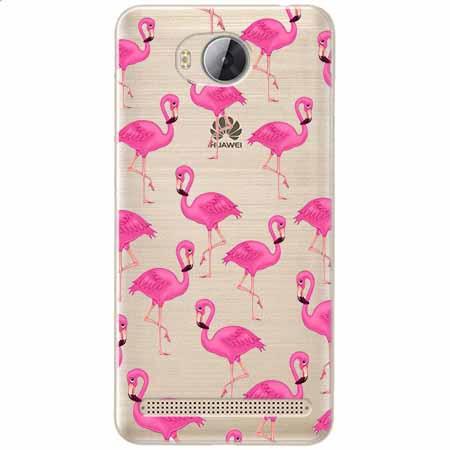 Etui na Huawei Y3 II - Różowe flamingi.